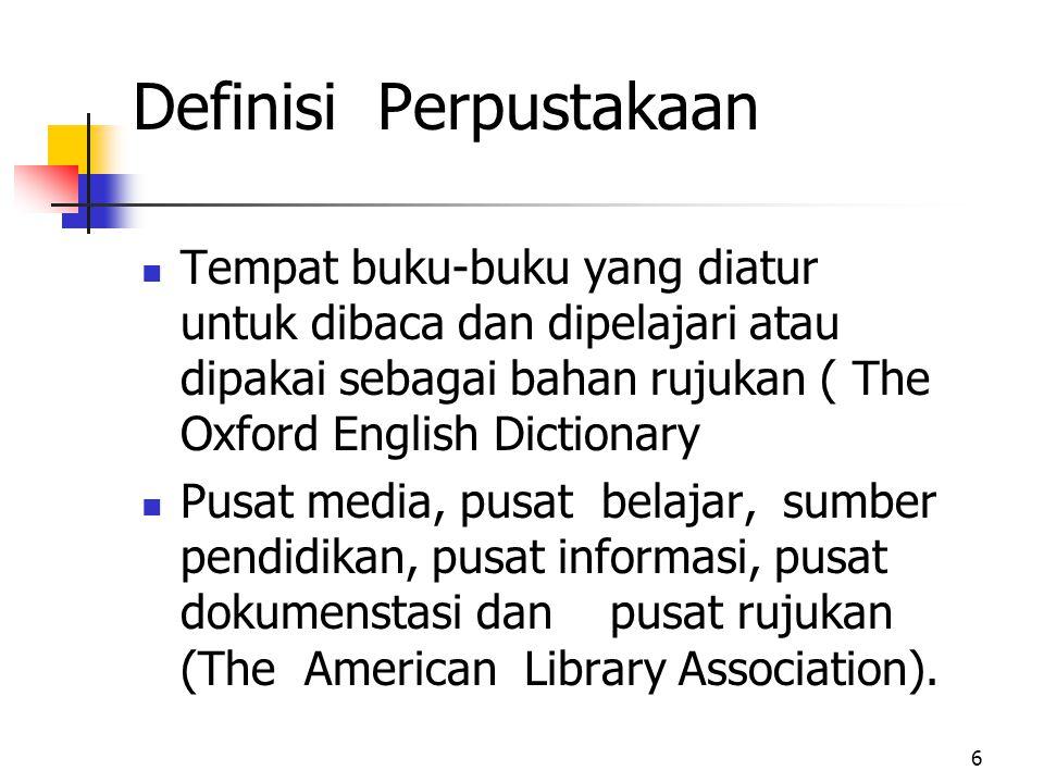 Definisi Perpustakaan
