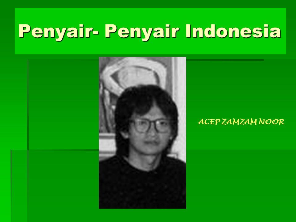 Penyair- Penyair Indonesia