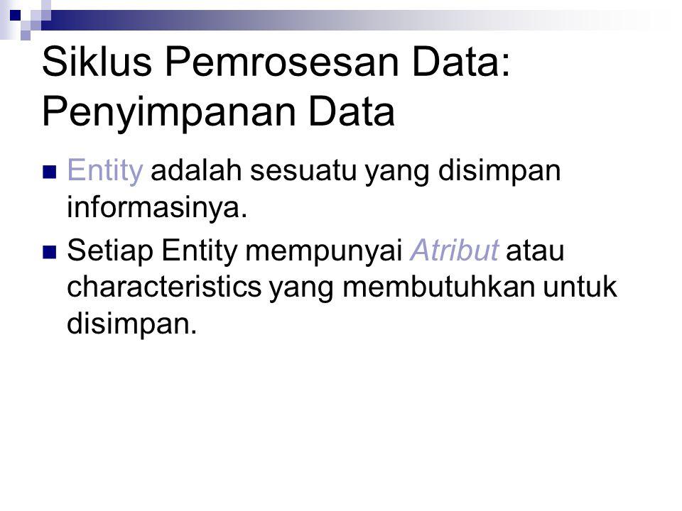 Siklus Pemrosesan Data: Penyimpanan Data