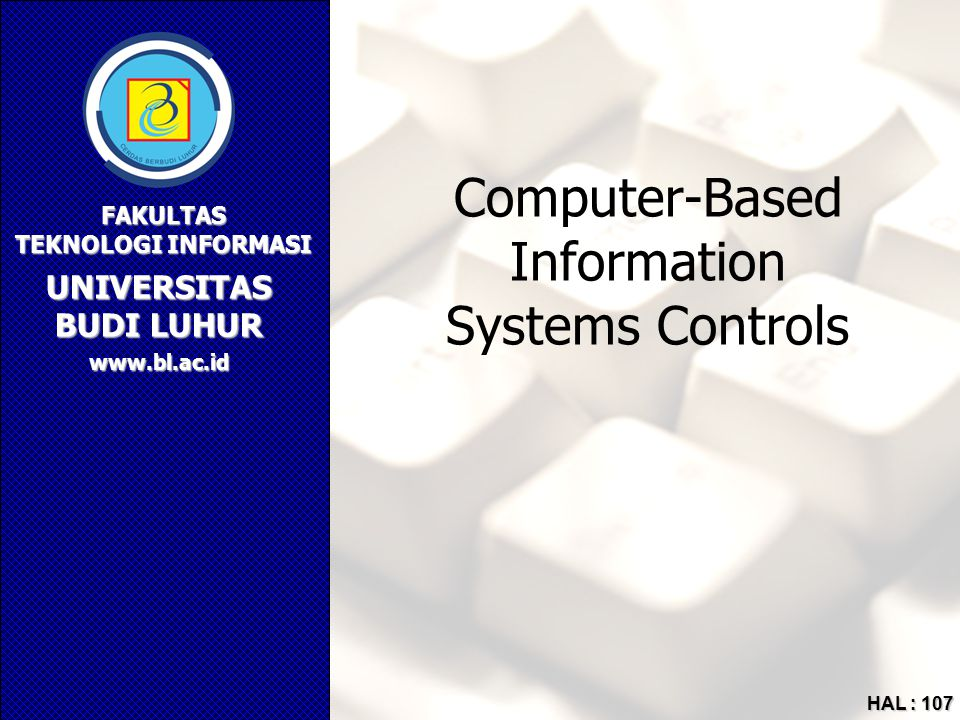 Computer-Based Information Systems Controls