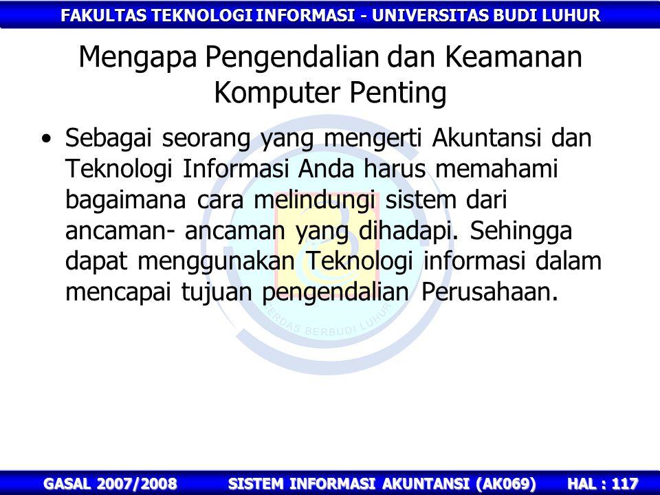 Mengapa Pengendalian dan Keamanan Komputer Penting