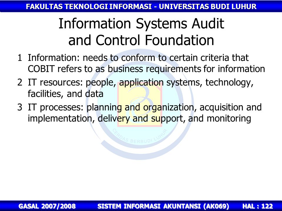 Information Systems Audit and Control Foundation