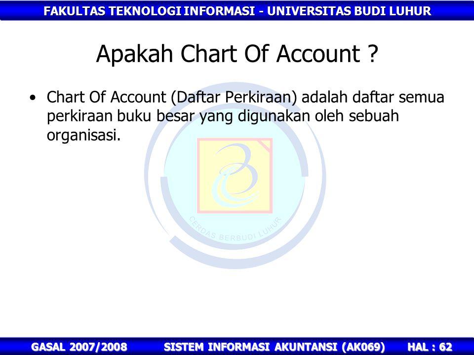 Apakah Chart Of Account