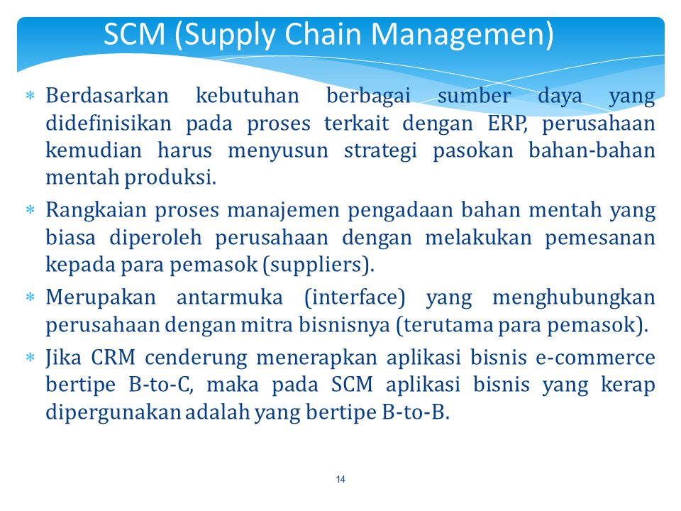 SCM (Supply Chain Managemen)