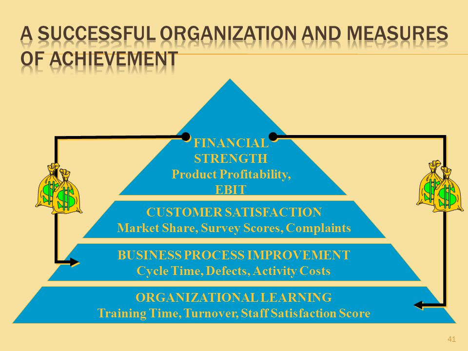A Successful Organization and Measures of Achievement