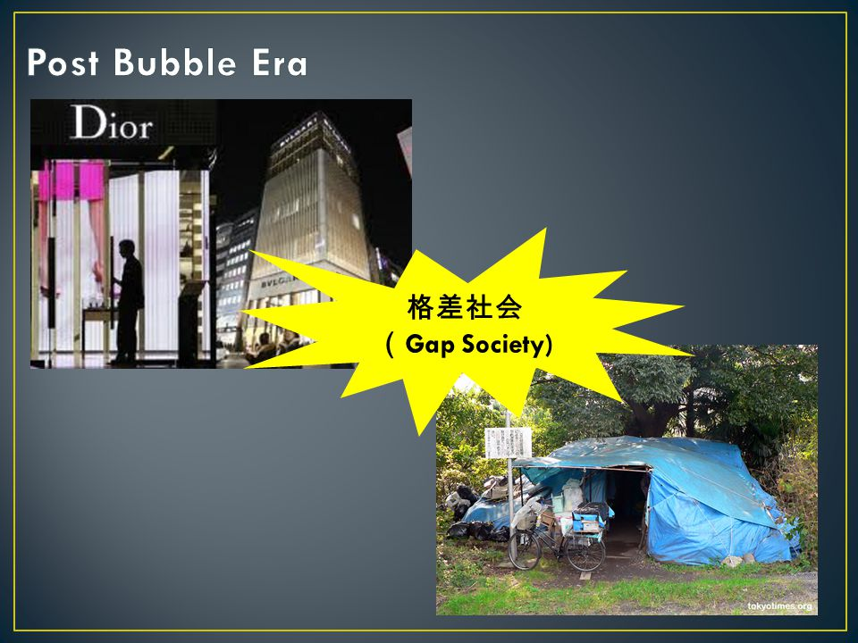 Post Bubble Era 格差社会 (Gap Society)
