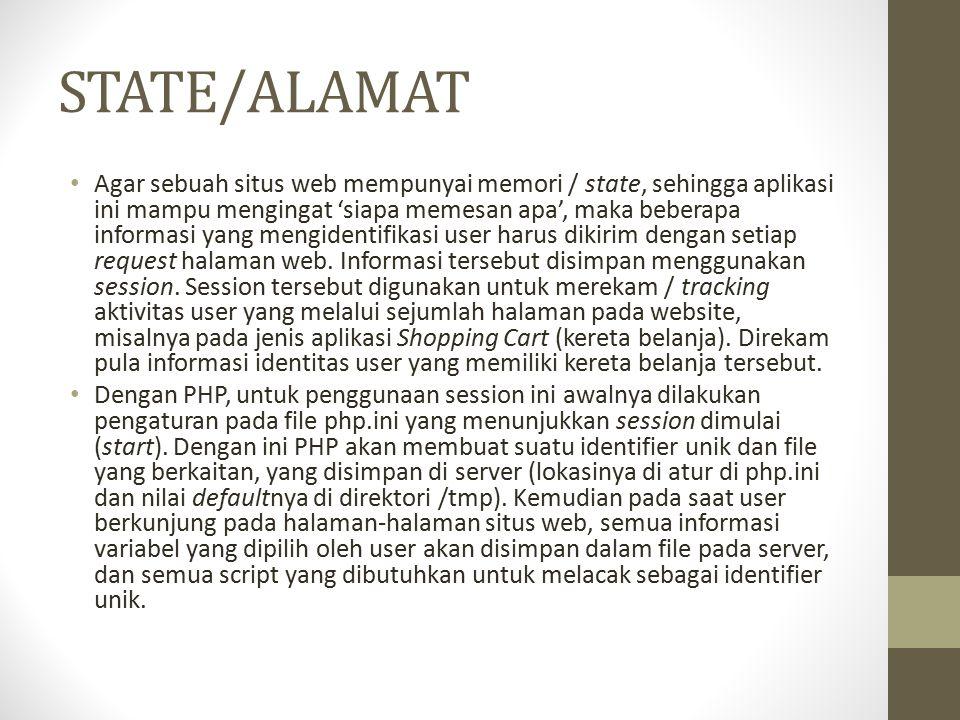 STATE/ALAMAT