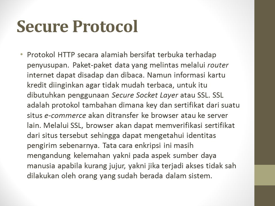 Secure Protocol