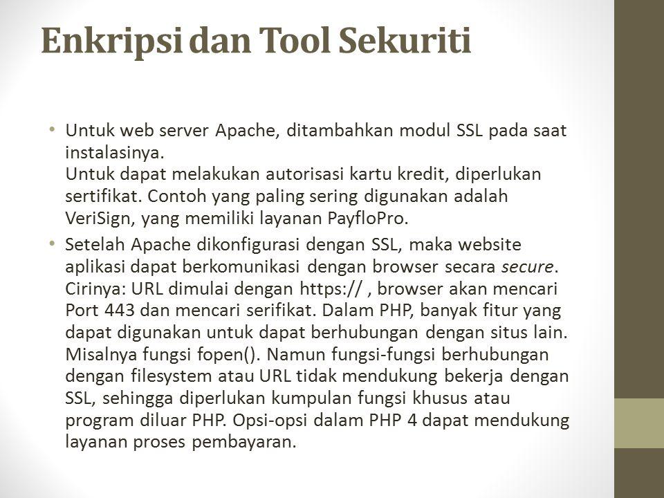 Enkripsi dan Tool Sekuriti