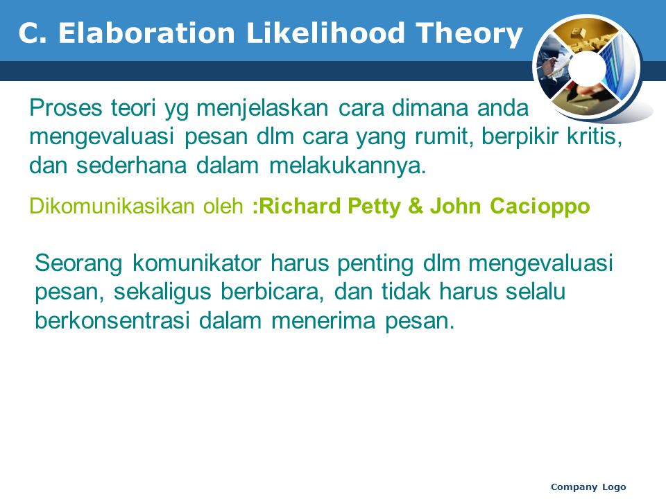 C. Elaboration Likelihood Theory