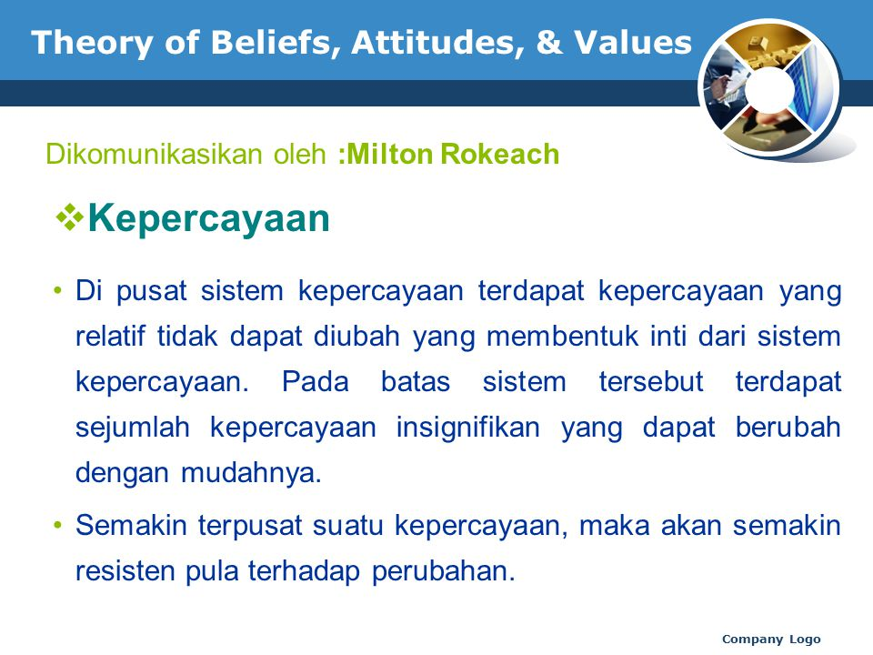 Theory of Beliefs, Attitudes, & Values