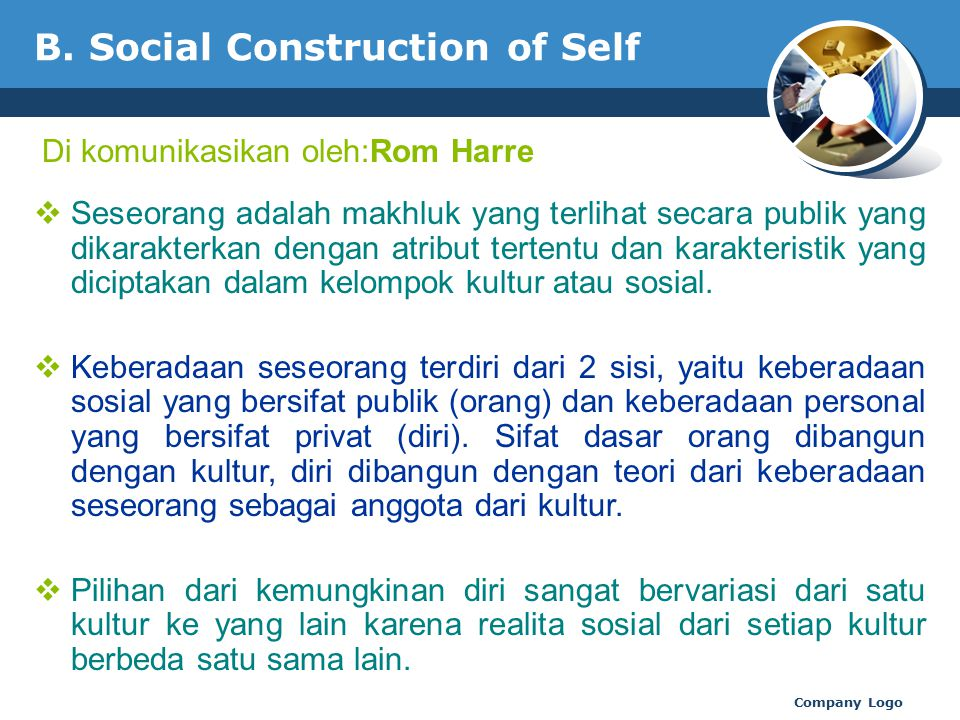 B. Social Construction of Self