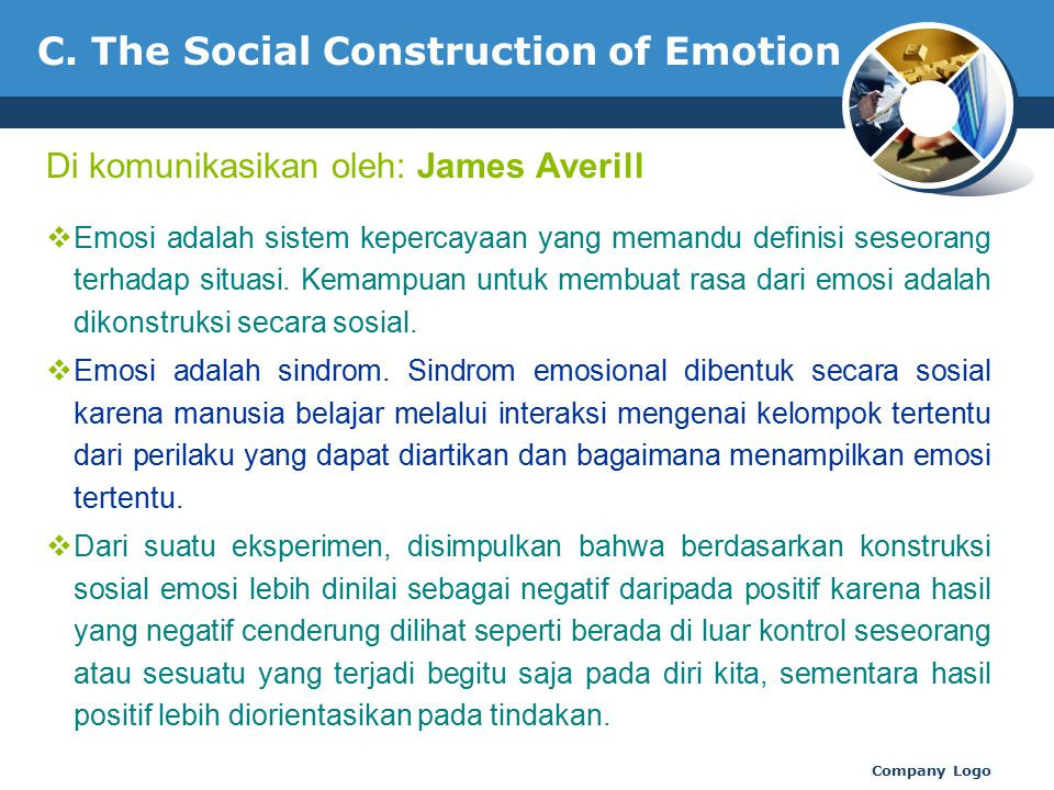 C. The Social Construction of Emotion