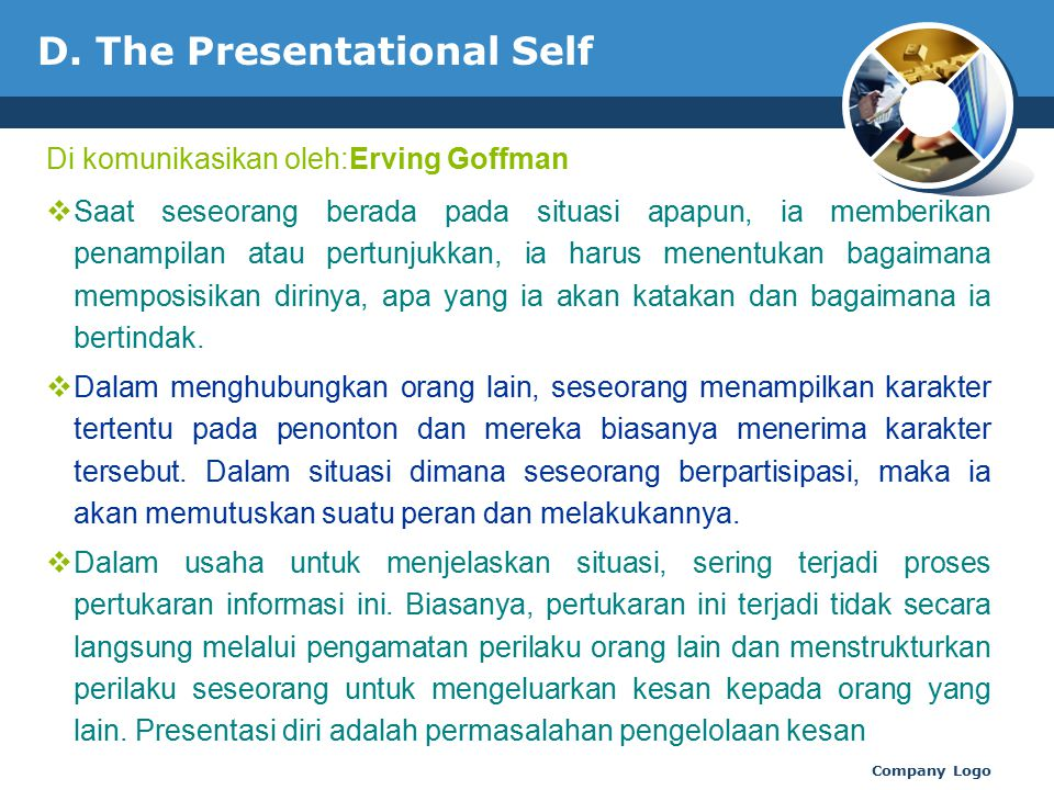 D. The Presentational Self