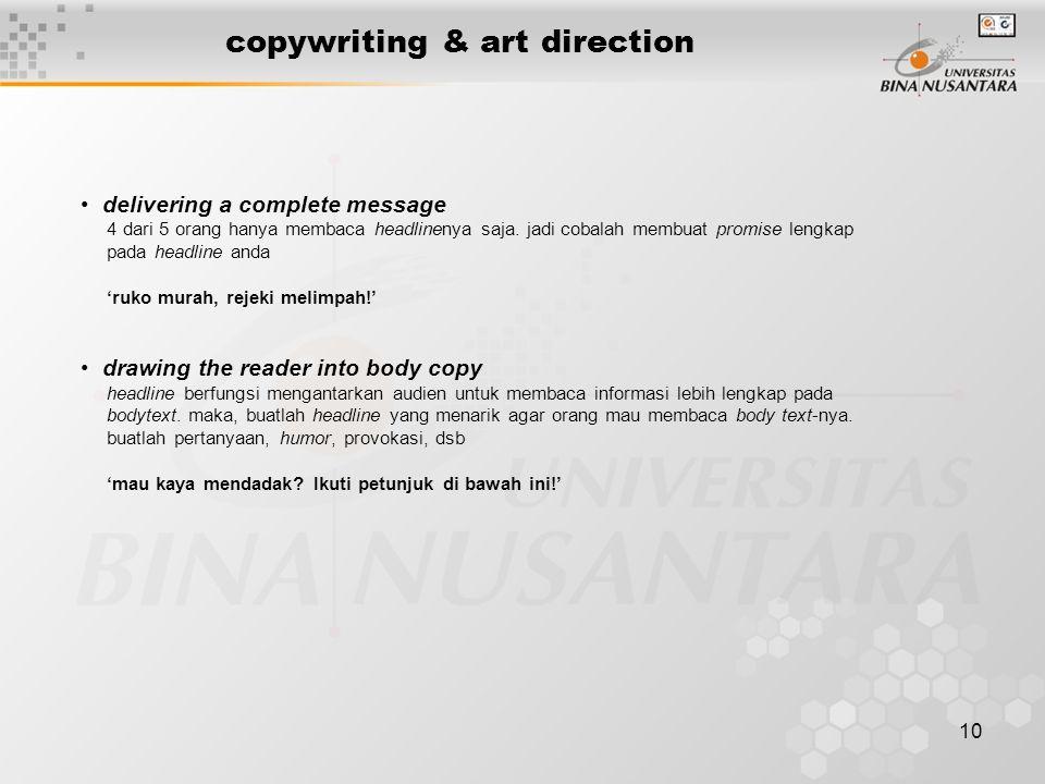copywriting & art direction