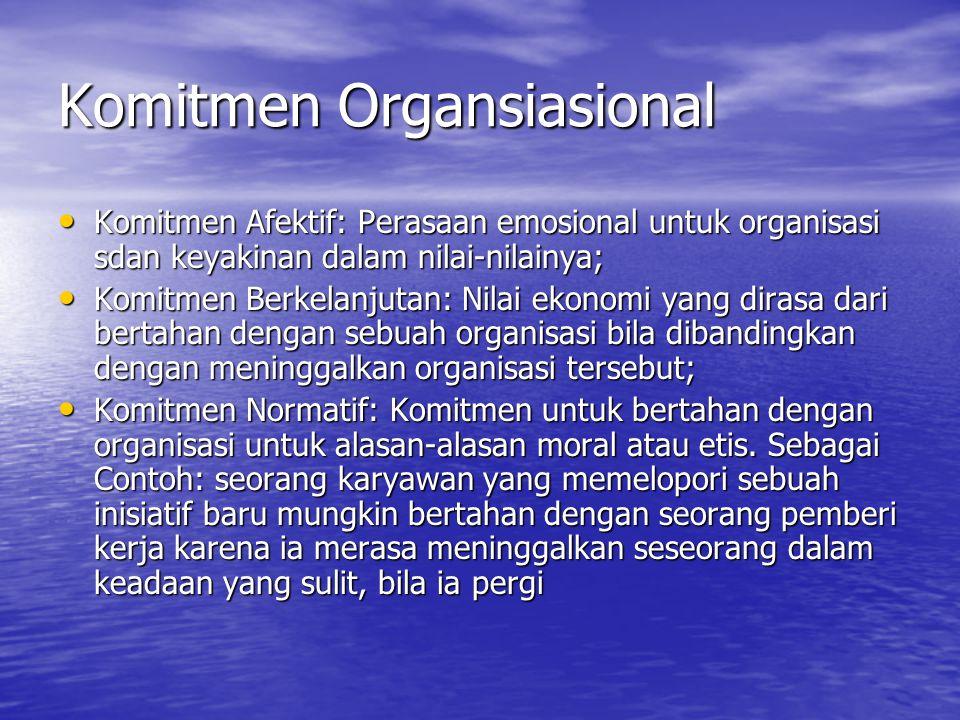 Komitmen Organsiasional