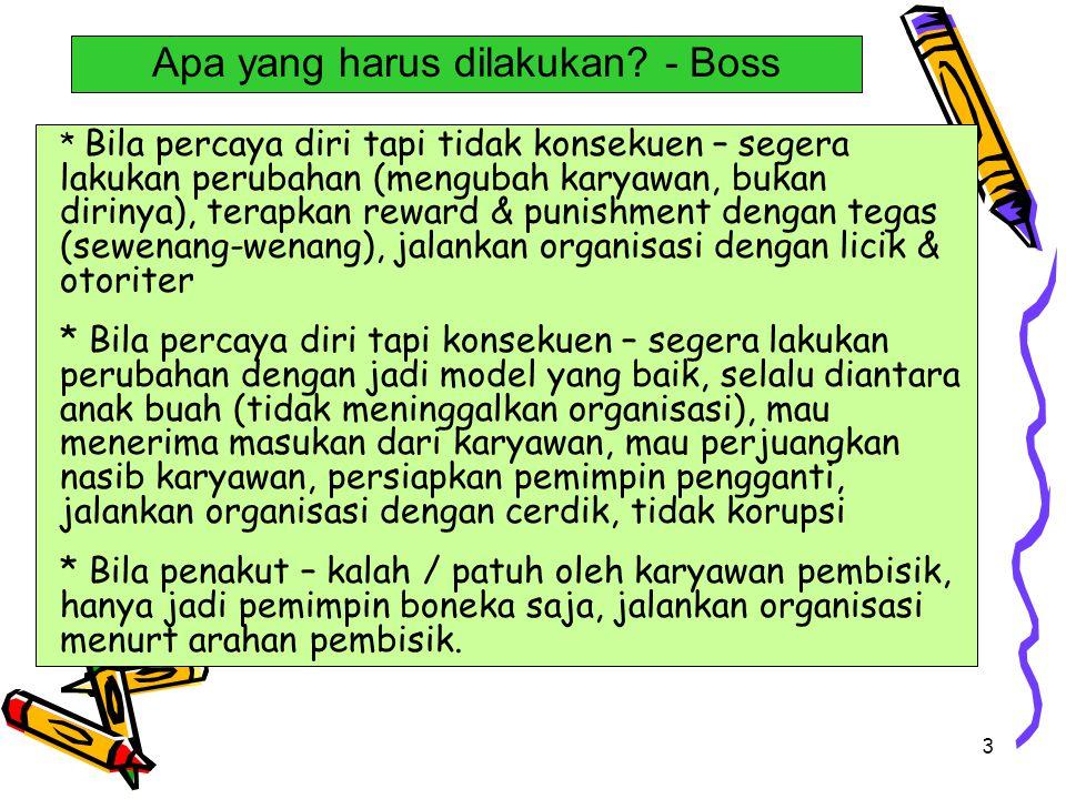 Apa yang harus dilakukan - Boss