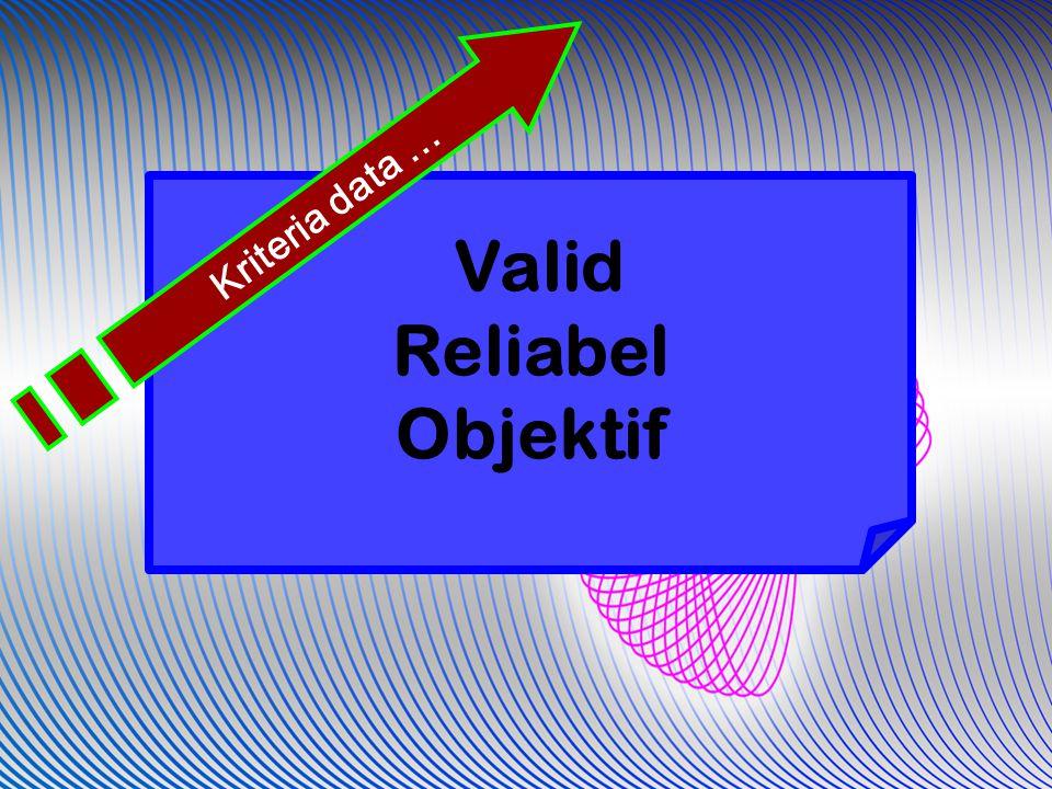 Valid Reliabel Objektif