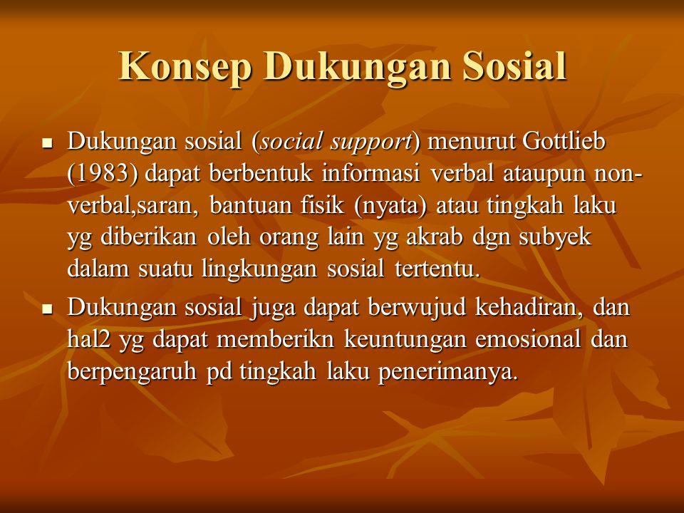 Konsep Dukungan Sosial