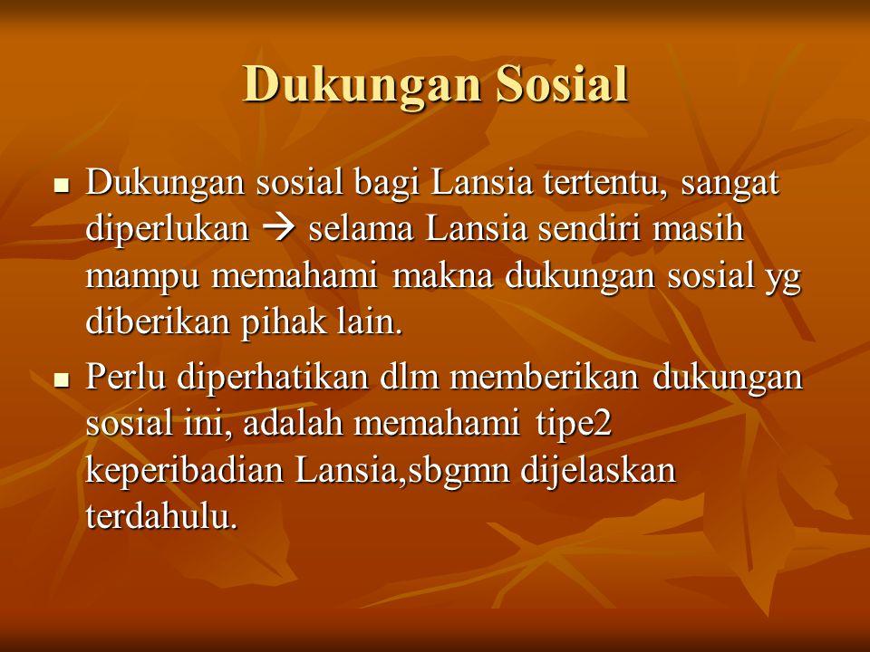 Dukungan Sosial