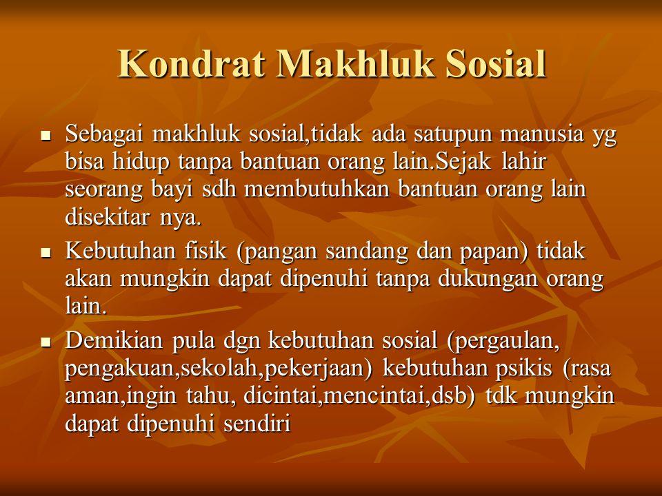 Kondrat Makhluk Sosial