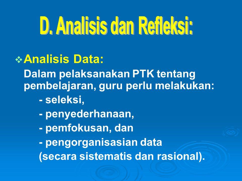 D. Analisis dan Refleksi: