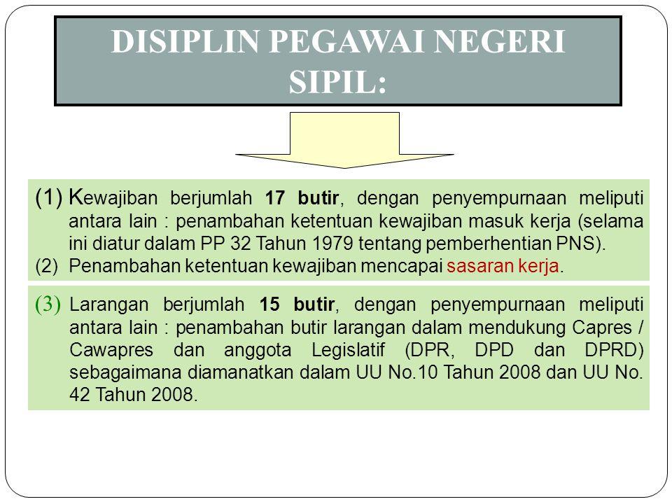 DISIPLIN PEGAWAI NEGERI SIPIL: