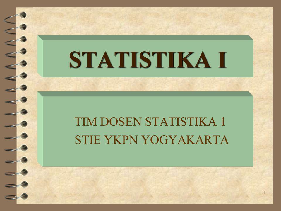 TIM DOSEN STATISTIKA 1 STIE YKPN YOGYAKARTA