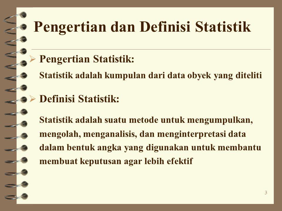 Pengertian dan Definisi Statistik