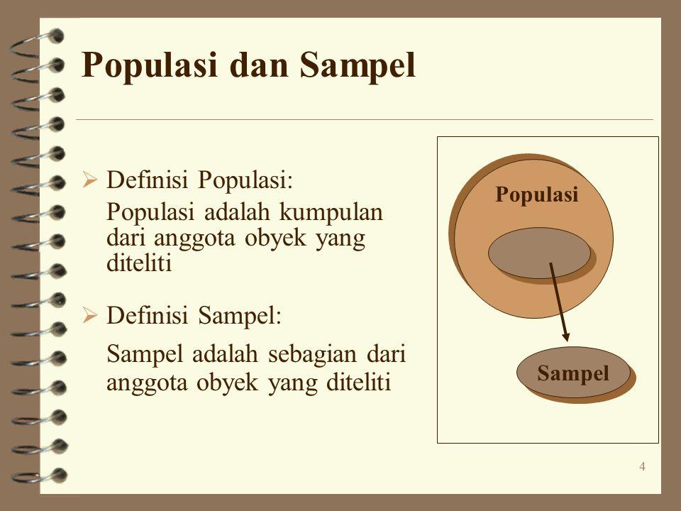 Populasi dan Sampel Definisi Populasi: