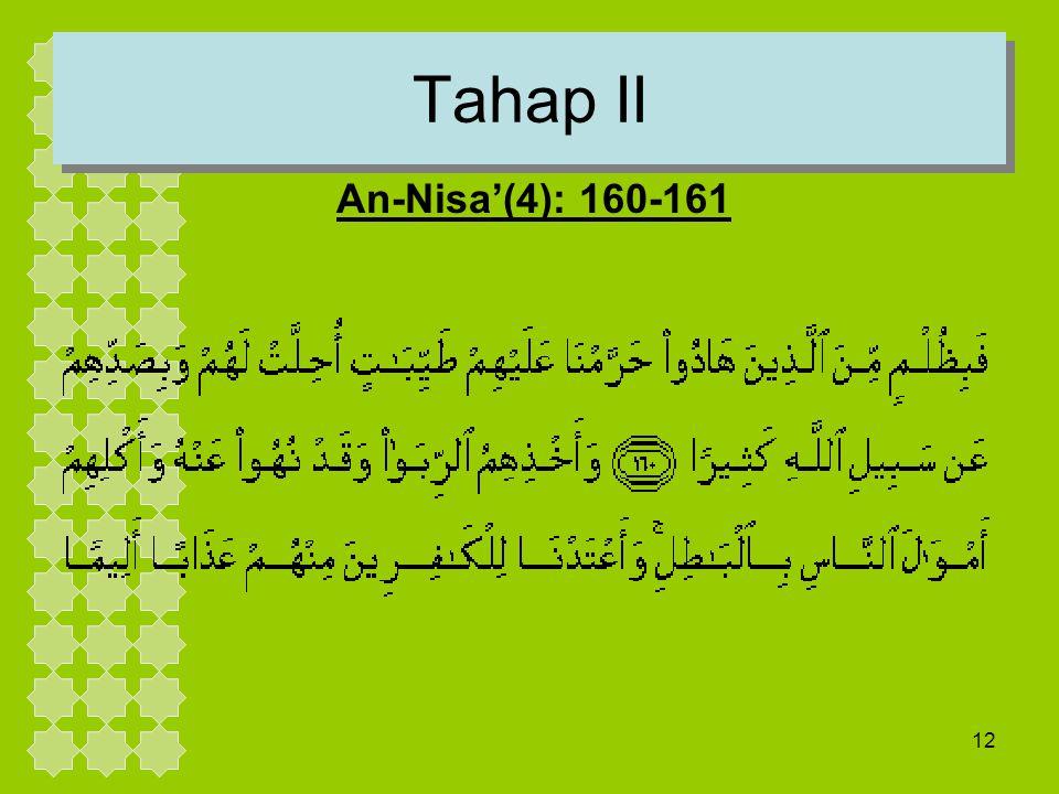 Tahap II An-Nisa'(4): 160-161