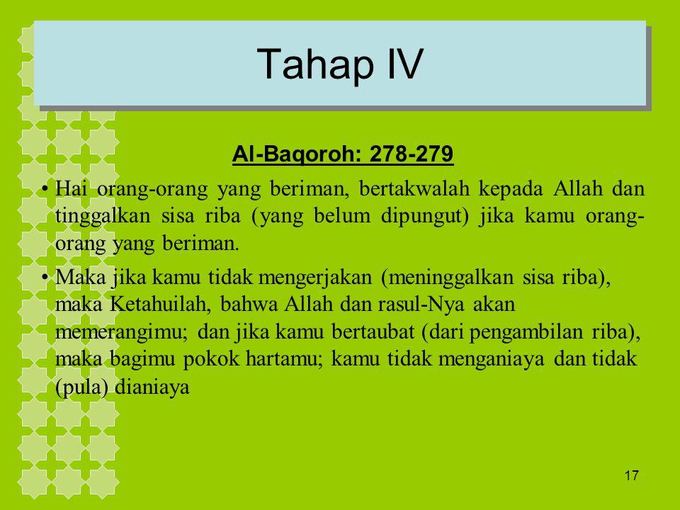 Tahap IV Al-Baqoroh: 278-279.