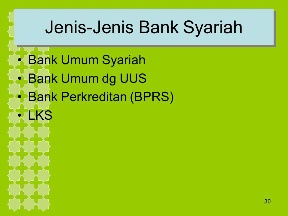 Jenis-Jenis Bank Syariah