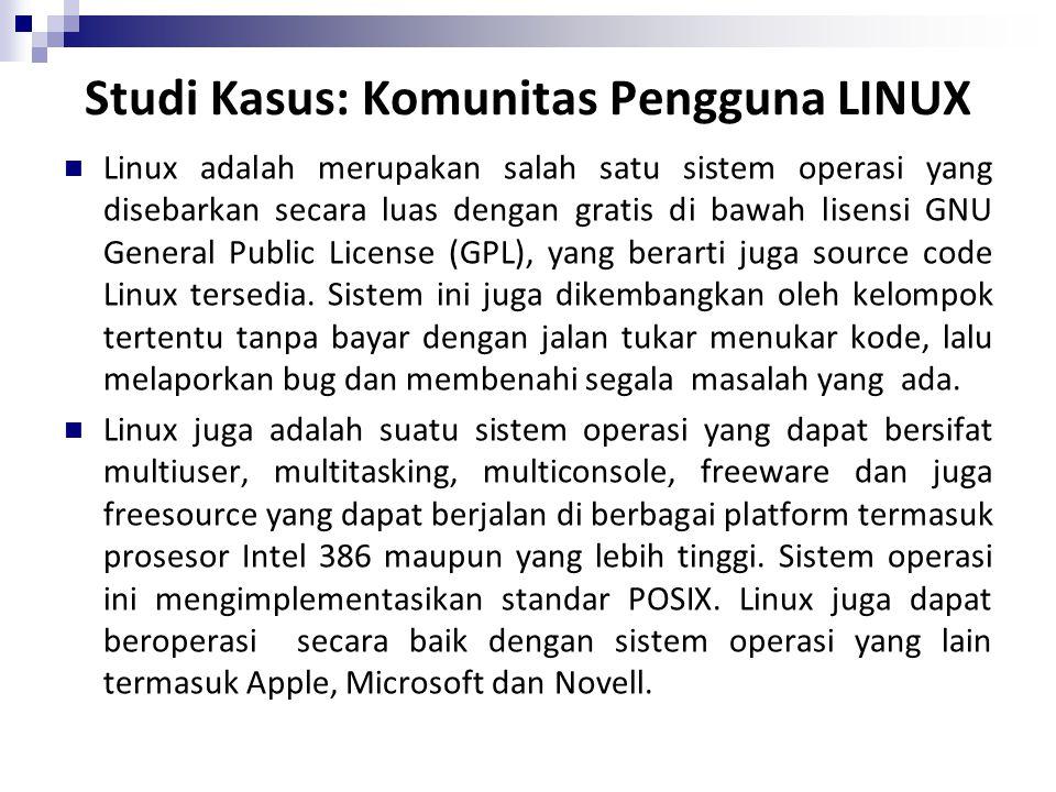 Studi Kasus: Komunitas Pengguna LINUX