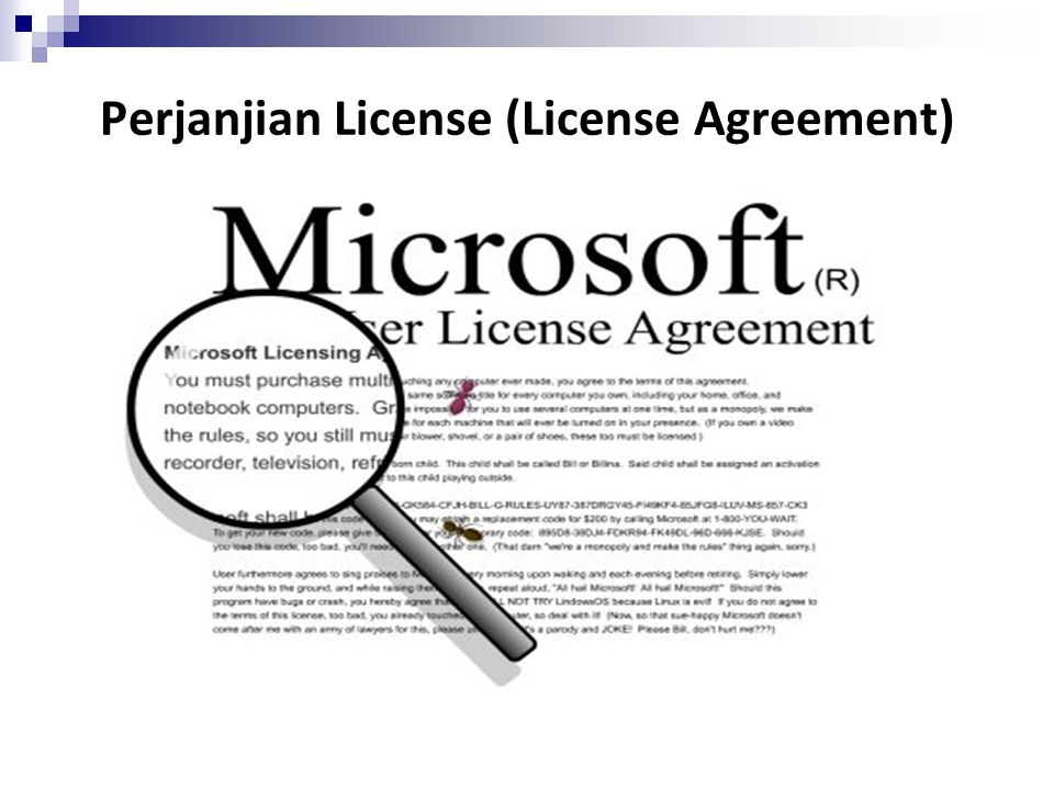 Perjanjian License (License Agreement)