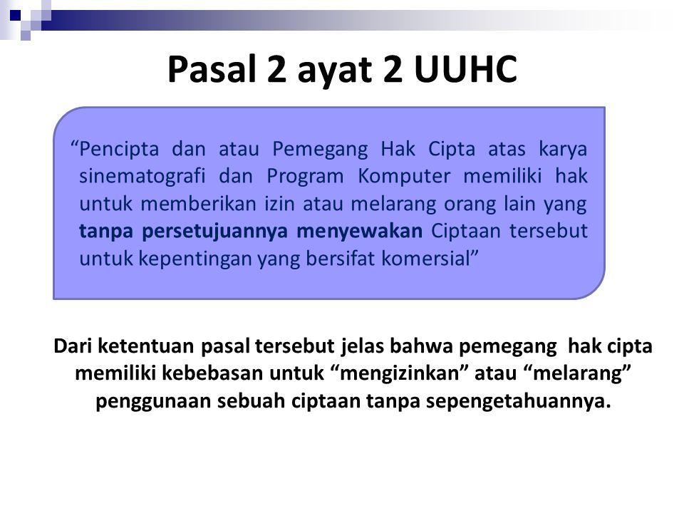 Pasal 2 ayat 2 UUHC