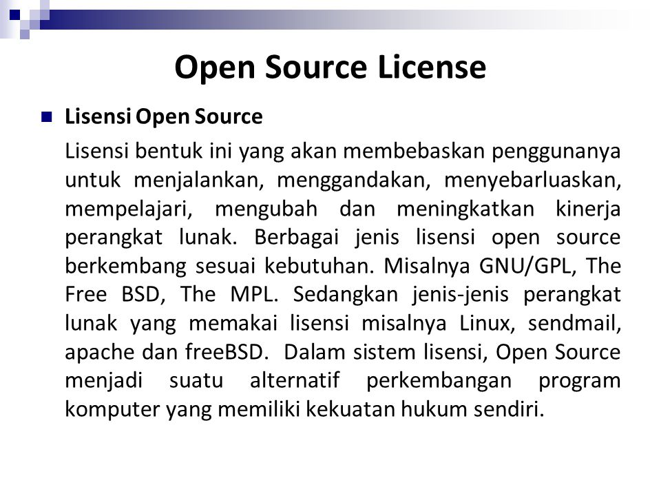 Open Source License Lisensi Open Source