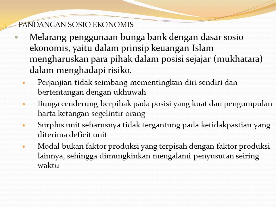 PANDANGAN SOSIO EKONOMIS