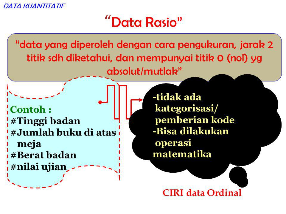 DATA KUANTITATIF Data Rasio