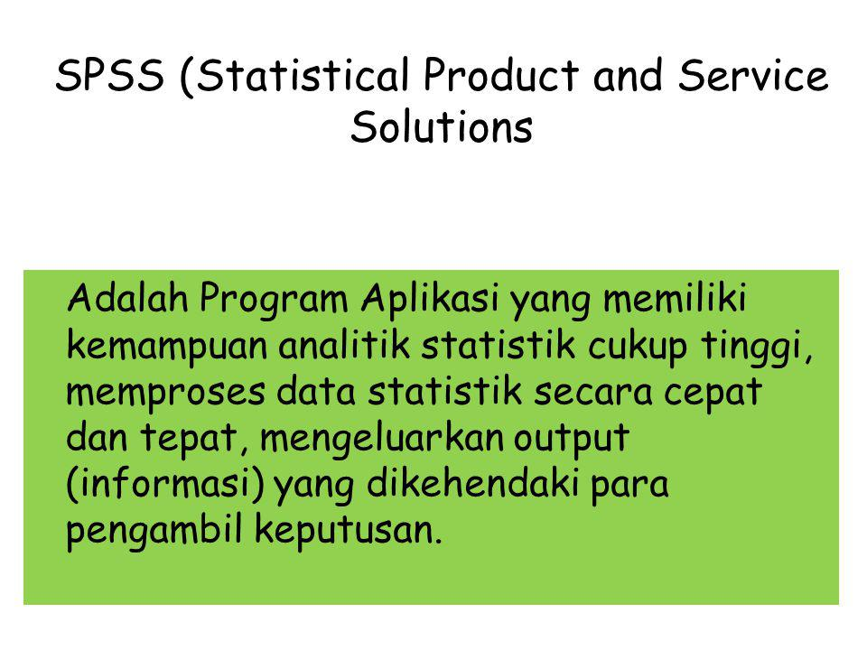 SPSS (Statistical Product and Service Solutions