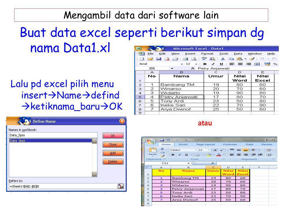 Mengambil data dari software lain