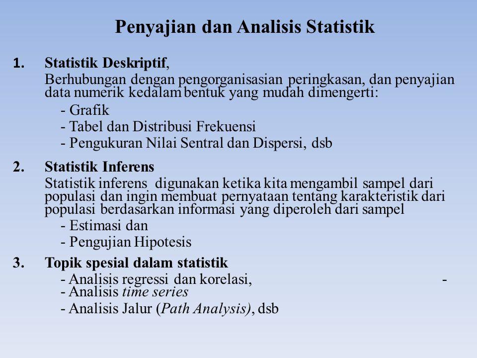 Penyajian dan Analisis Statistik