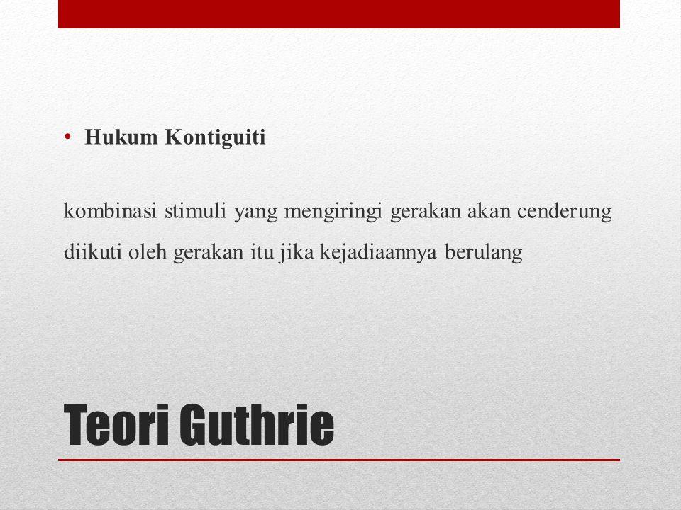 Teori Guthrie Hukum Kontiguiti
