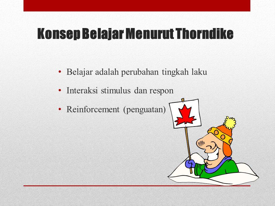 Konsep Belajar Menurut Thorndike