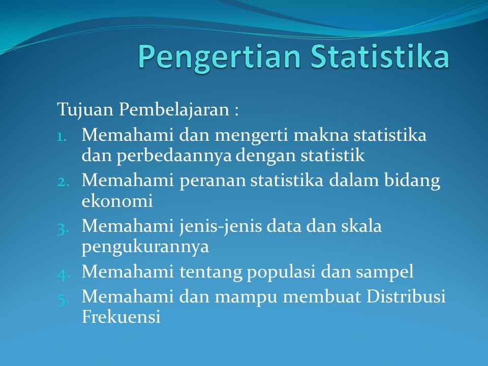 Pengertian Statistika