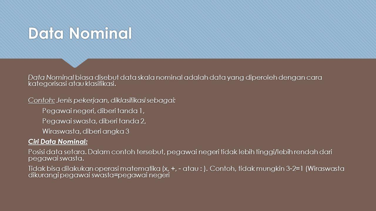 Data Nominal