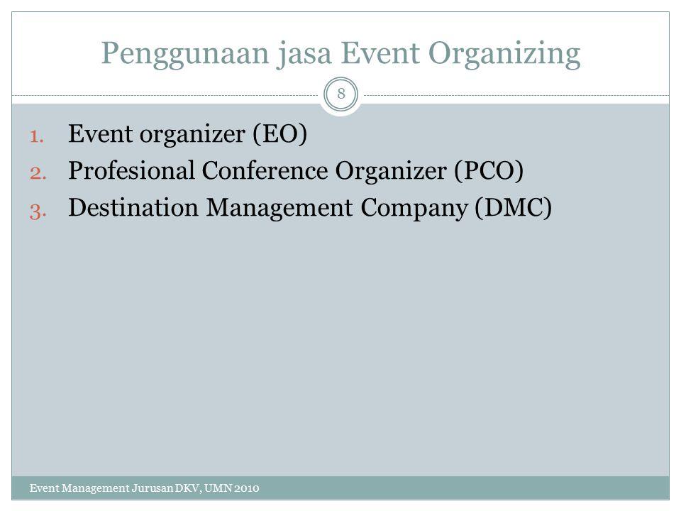 Penggunaan jasa Event Organizing