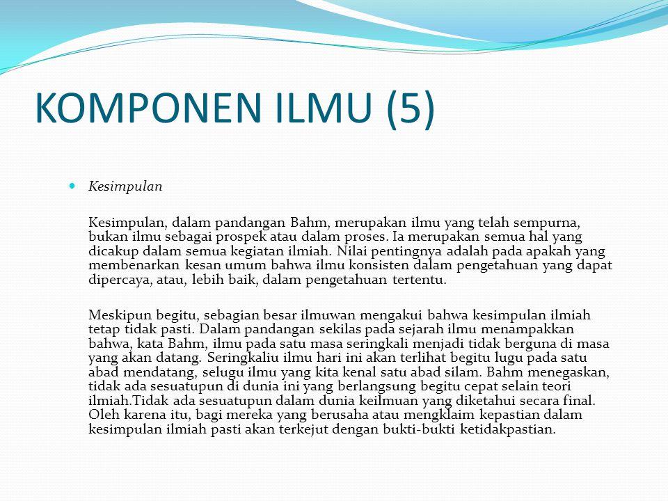 KOMPONEN ILMU (5) Kesimpulan