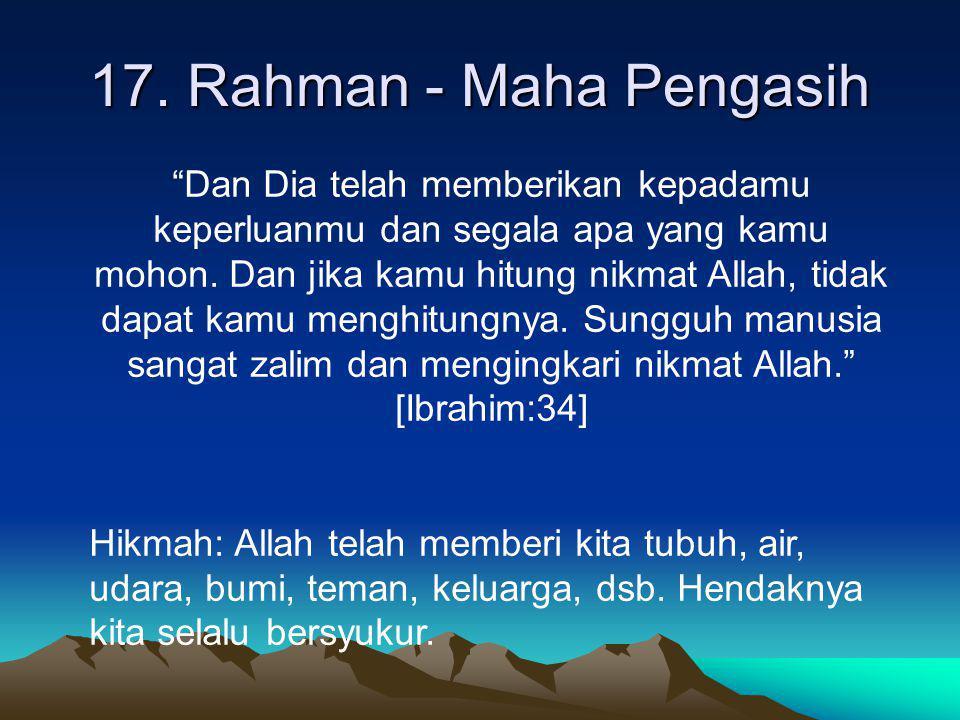 17. Rahman - Maha Pengasih