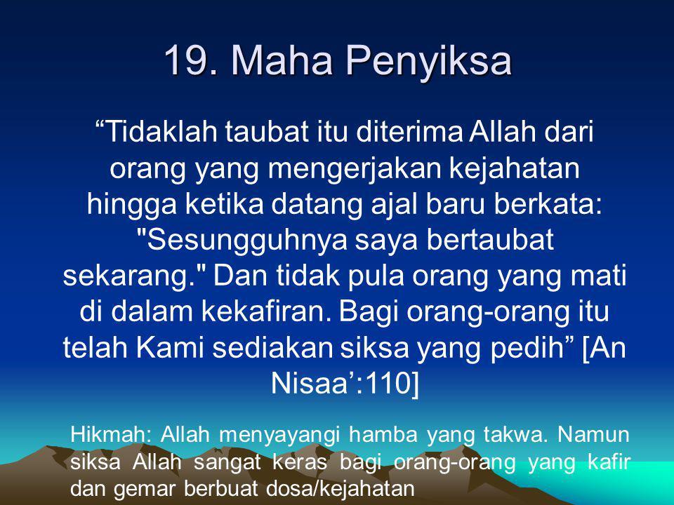 19. Maha Penyiksa